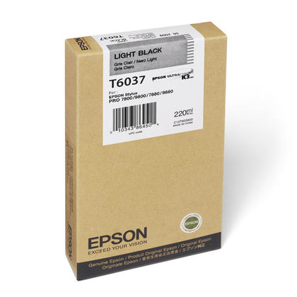 Epson T603700 Original Light Black Ink Cartridge