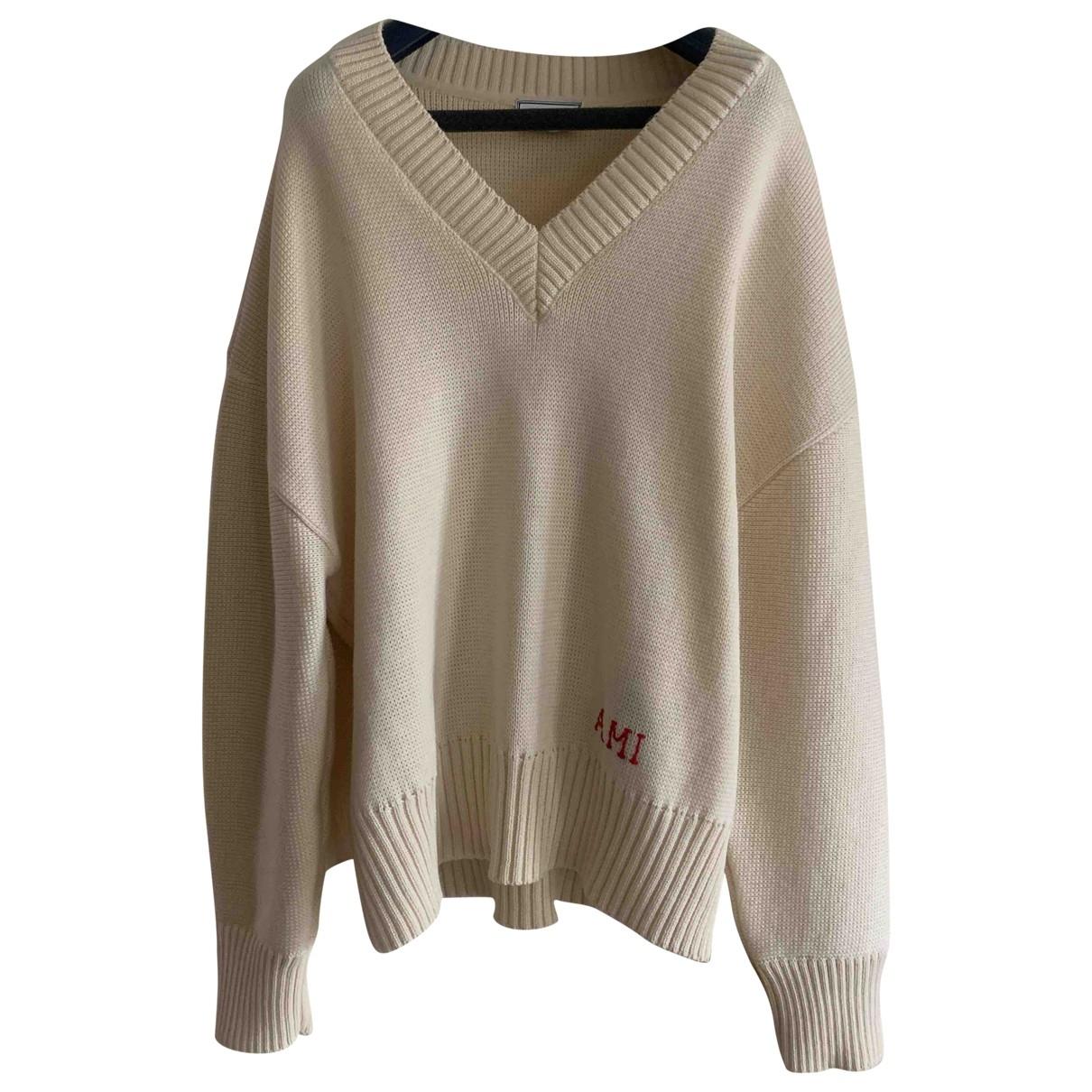 Ami \N Beige Wool Knitwear & Sweatshirts for Men XL International