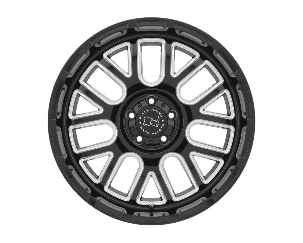 Black Rhino Pismo Gloss Black w/ Milled Spokes Wheel 20x9.5 5x139.70|5x5.5 0mm CB78.1