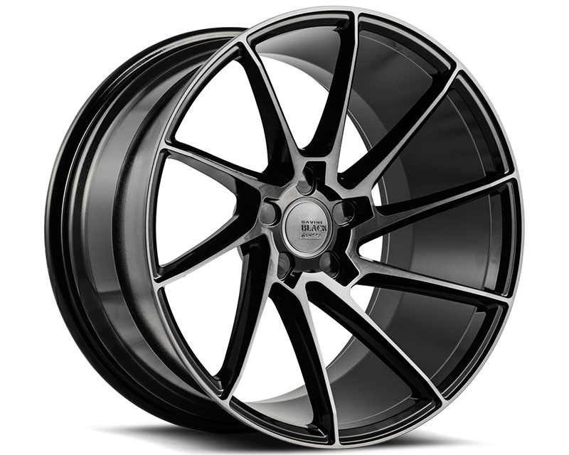 Savini BM15-22090520D2779L di Forza Gloss Black with Double Dark Tint BM15 Left Wheel 22x9.0 5x120 27mm