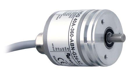 Wachendorff Incremental Encoder  40A50ABNG24K2 50 ppr 12000rpm Solid 10 → 30 V dc