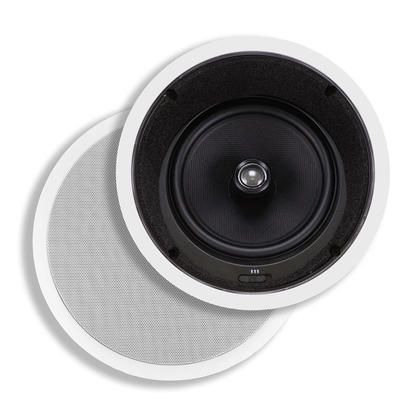 Caliber In-Ceiling Speakers, 8in Fiber 2-Way with 15° Angled Drivers (pair) - Monoprice®