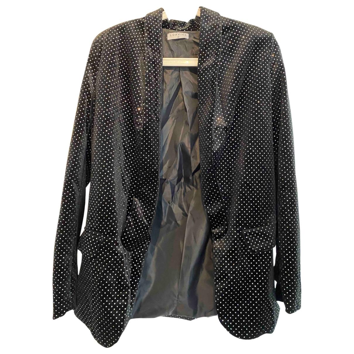 Non Signé / Unsigned \N Black Velvet jacket for Women XS International