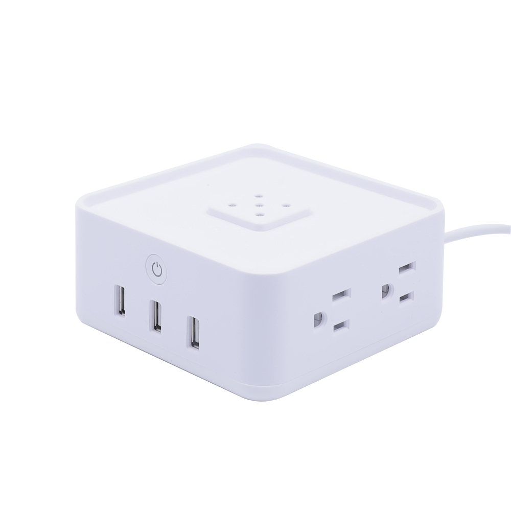 Geekbes Free Cube Power Strip Work with Free Cube Ambient light / wireless charger of - White