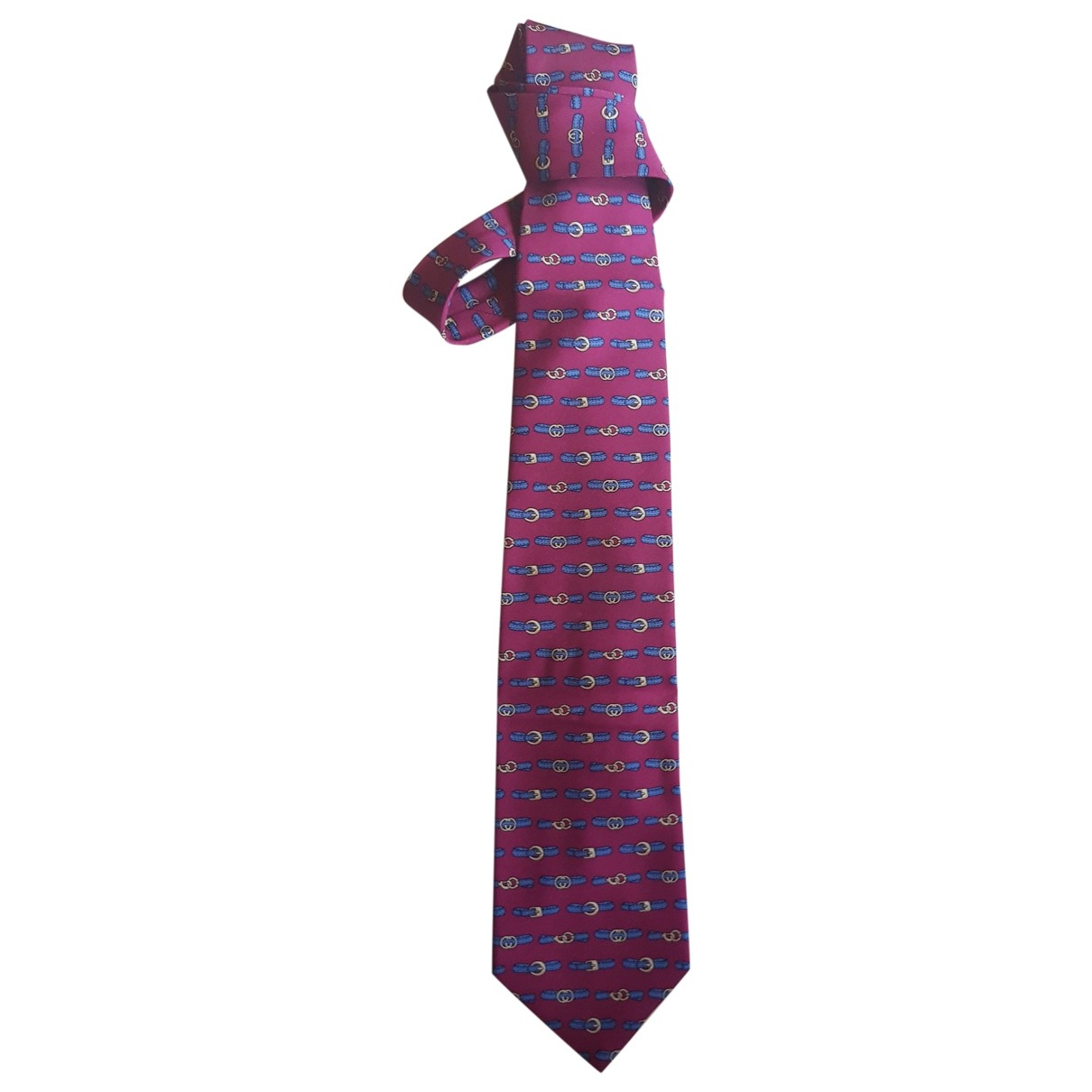 Gucci \N Burgundy Silk Ties for Men \N