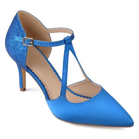 Journee Collection Womens Elodie Pumps Stiletto Heel, 9 Medium, Blue