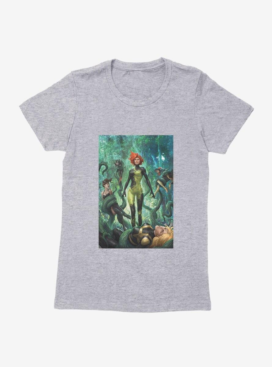 DC Comics Birds Of Prey Poison Ivy Death Grip Comic Art Womens T-Shirt