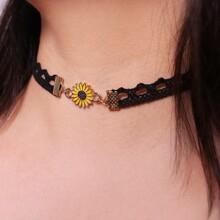 Sunflower Lace Choker