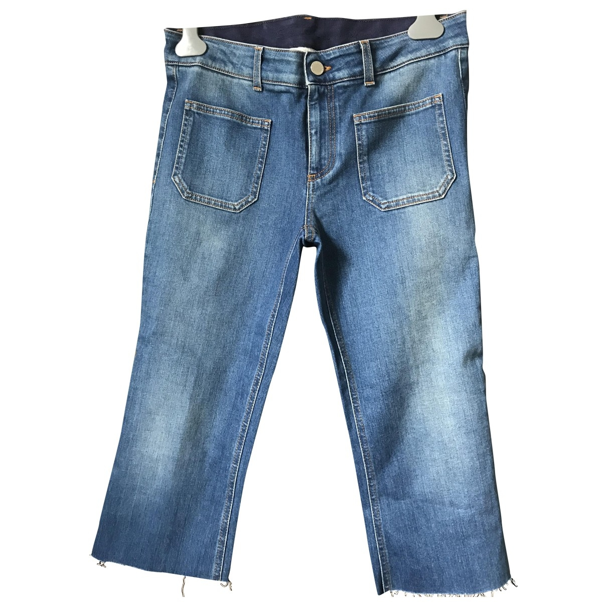 Stella Mccartney \N Blue Denim - Jeans Trousers for Women 42 IT