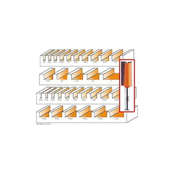 812.620.11 Straight Router Bit 1/2SH 12mmD 1-1/4CL 2-3/4OL