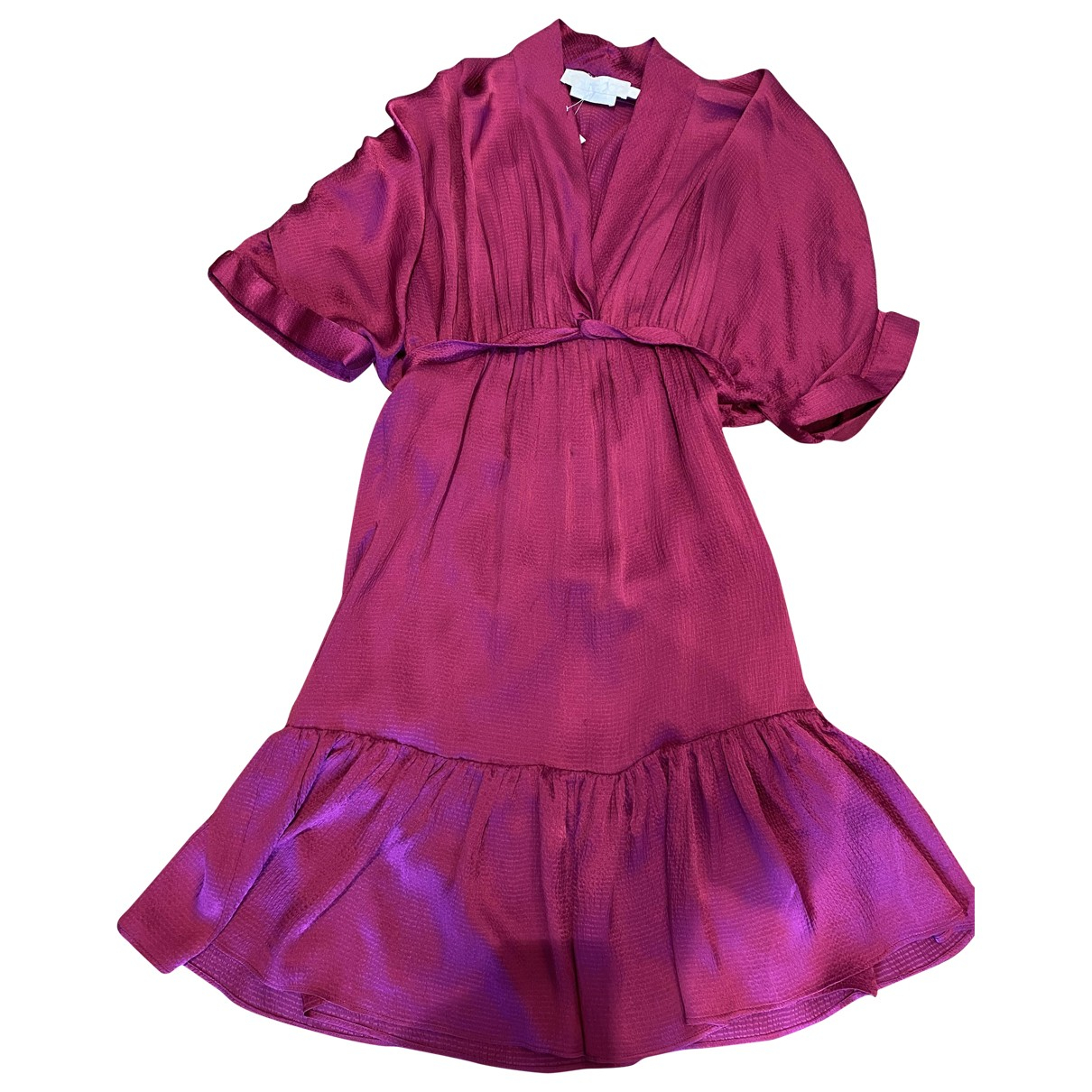 Non Signé / Unsigned \N Purple Silk dress for Women 8 UK