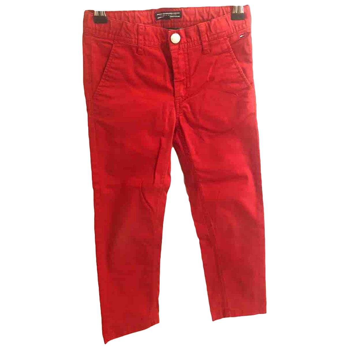 Tommy Hilfiger \N Red Cotton Trousers for Kids 6 years - up to 114cm FR