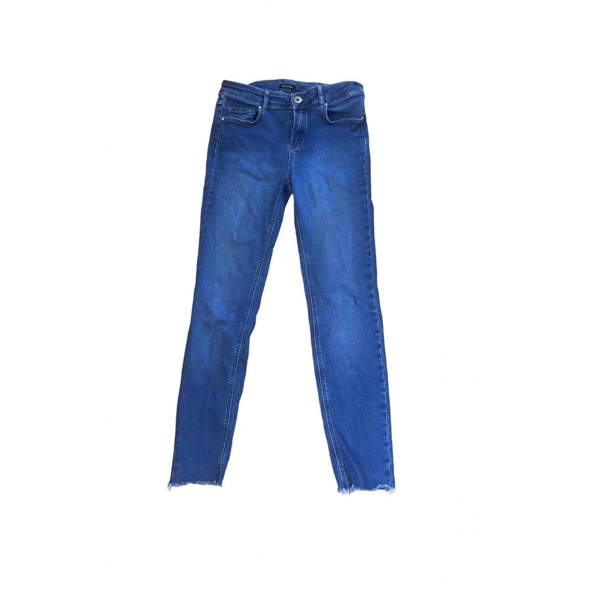 Massimo Dutti \N Blue Cotton - elasthane Jeans for Women 40 FR