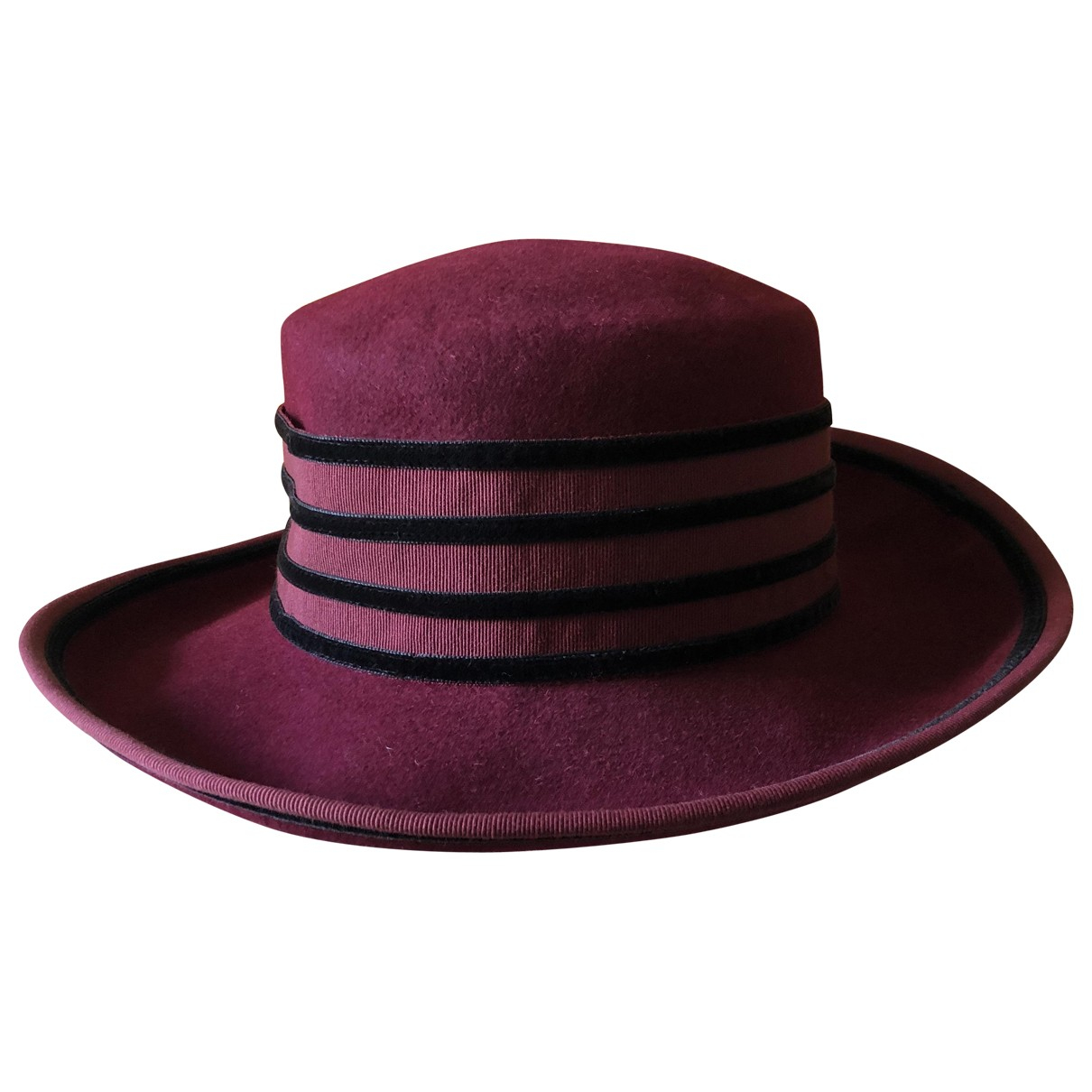Non Signé / Unsigned \N Burgundy Wool hat for Women 58 cm