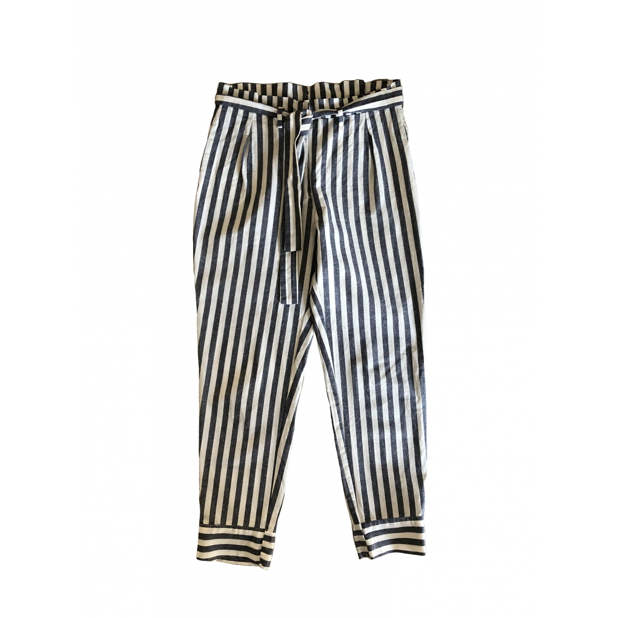 Zara \N Multicolour Cotton Trousers for Women XS International
