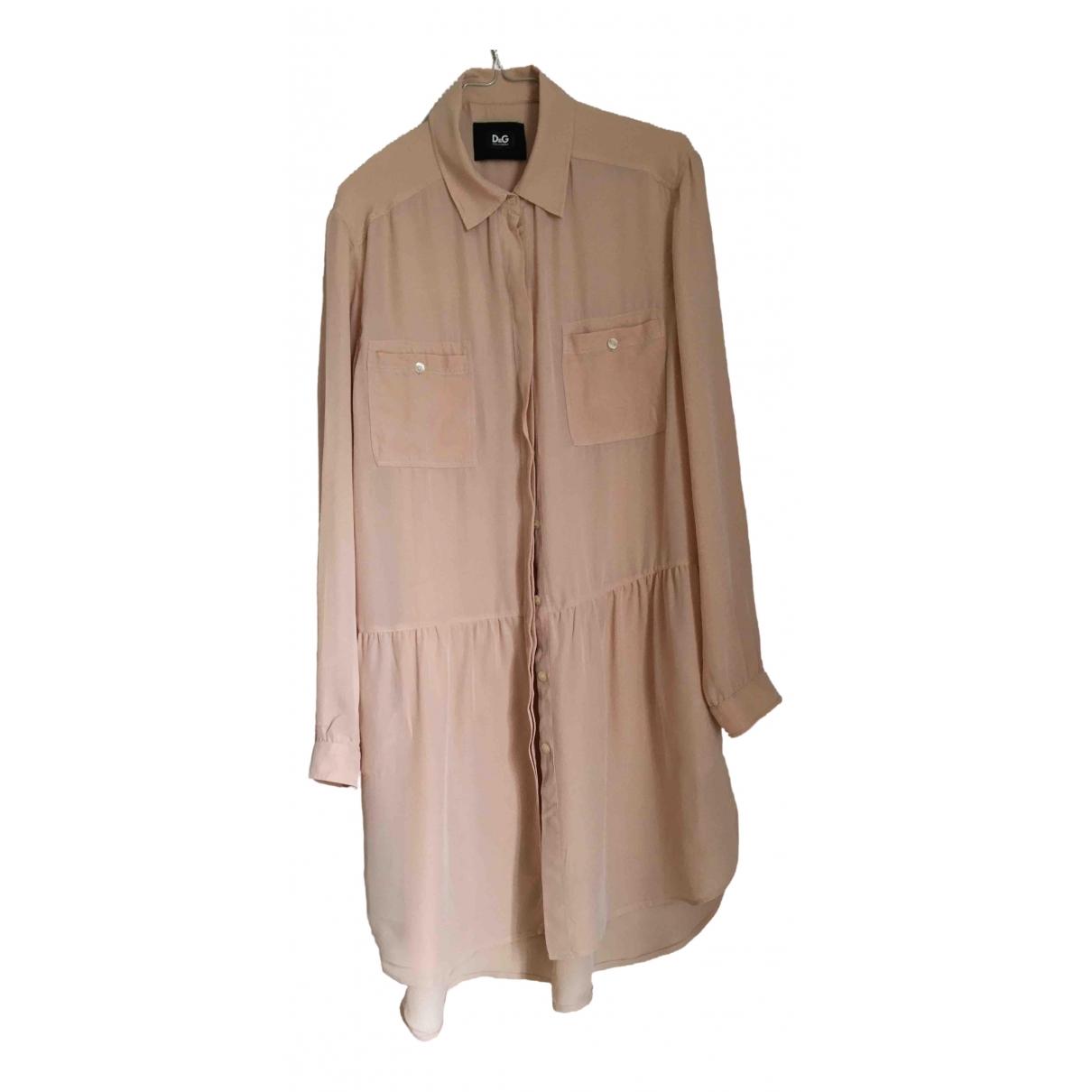 D&g \N Pink Silk dress for Women 42 FR