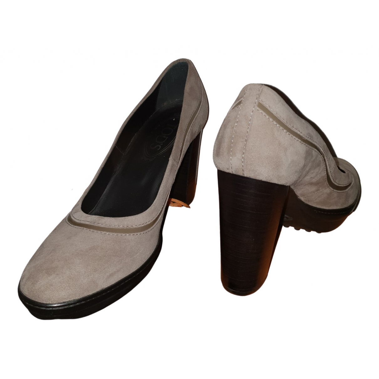 Tod's \N Grey Suede Heels for Women 39 EU