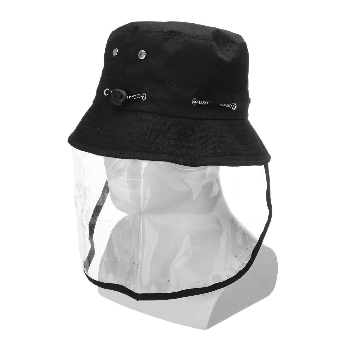 Anti-spitting Protective Mask Hat Anti-fog Anti-Splash Fisherman Full Face Cap