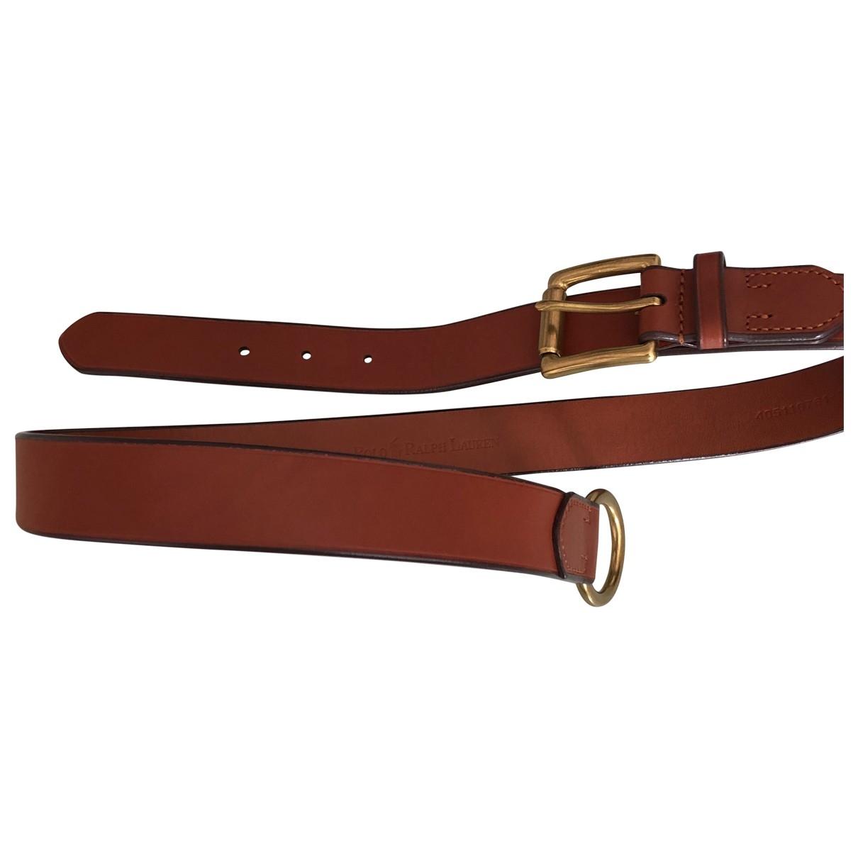Polo Ralph Lauren \N Camel Leather belt for Women S International