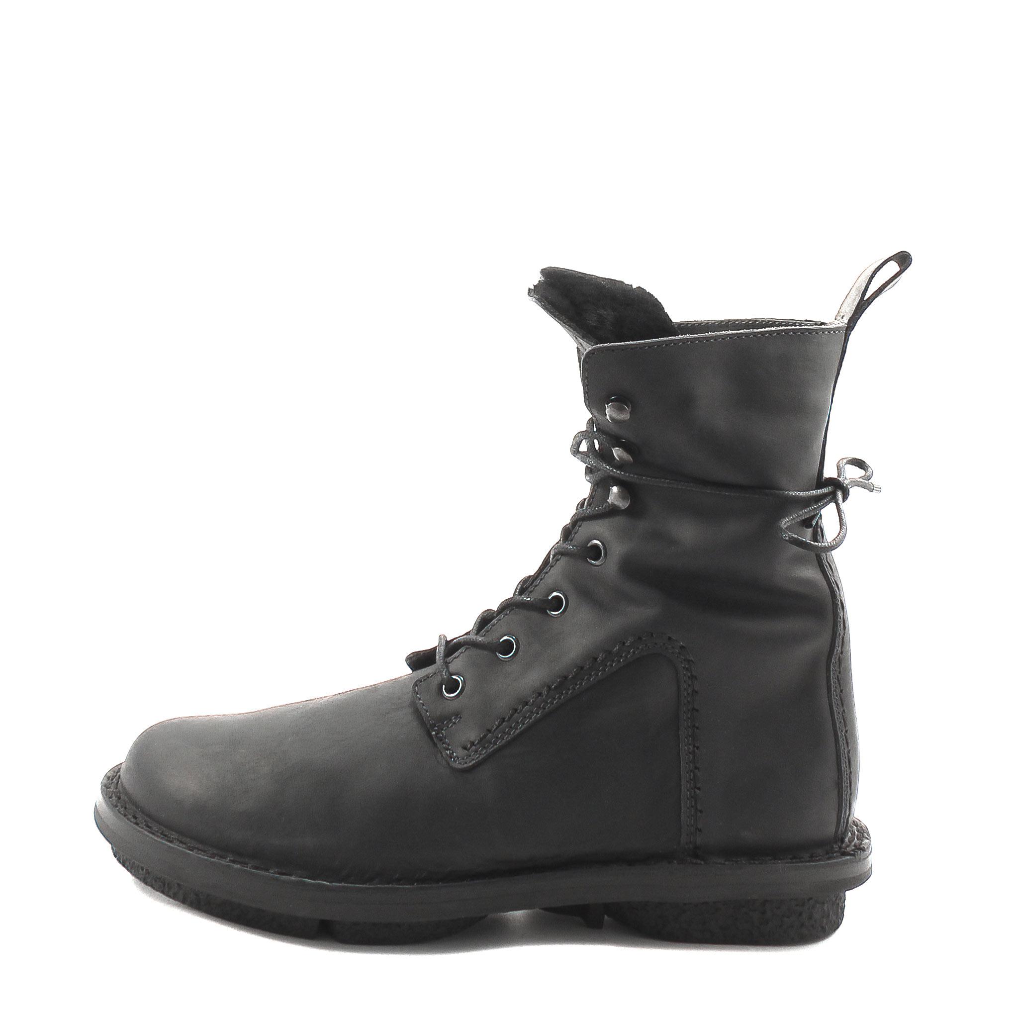 Trippen, Tar f Closed Women's Lambskin Bootees, black Größe 37
