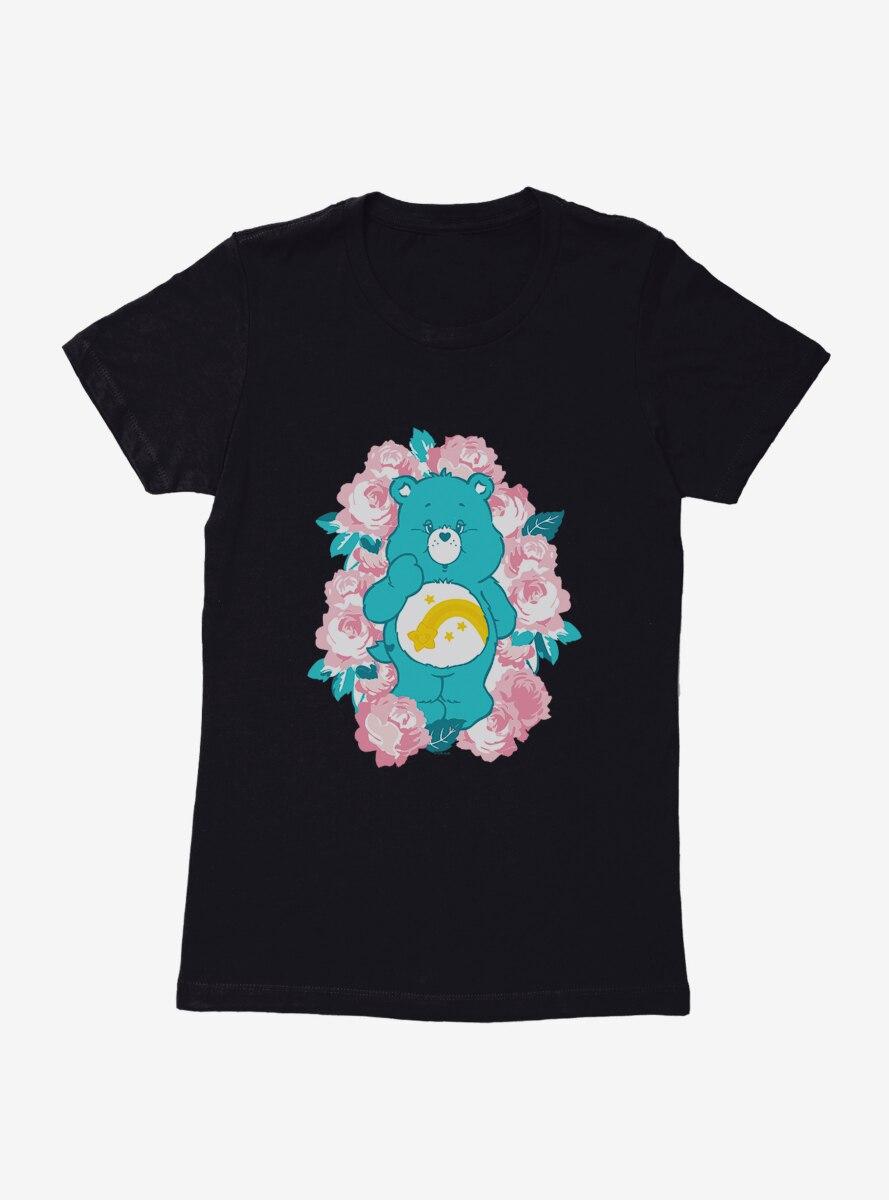 Care Bears Wish Bear Floral Womens T-Shirt
