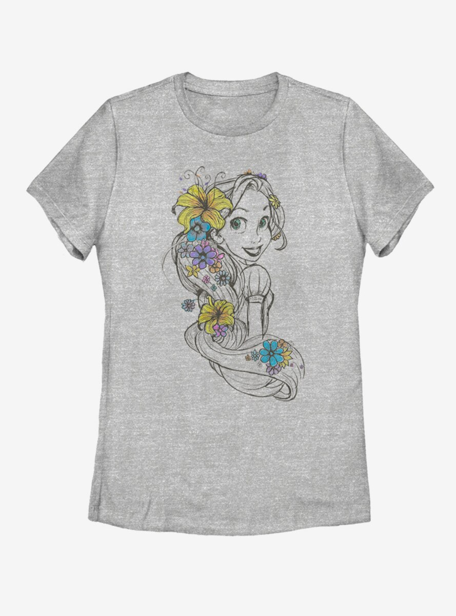 Disney Tangled Rapunzel Sketch Womens T-Shirt