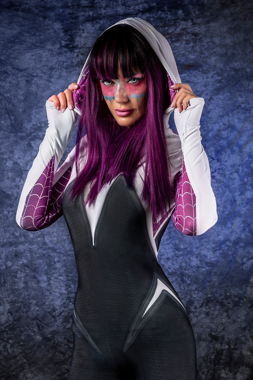 Sexy Spider Halloween Costume Women - Spiderman Halloween Hooded Bodysuit for Women