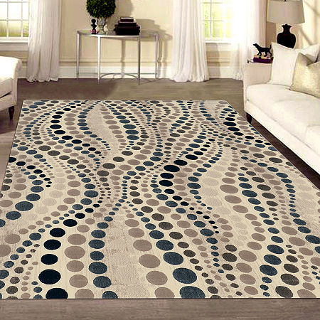 Iseo Rocco Modern Geometric Contemporary Area Rug, One Size , White