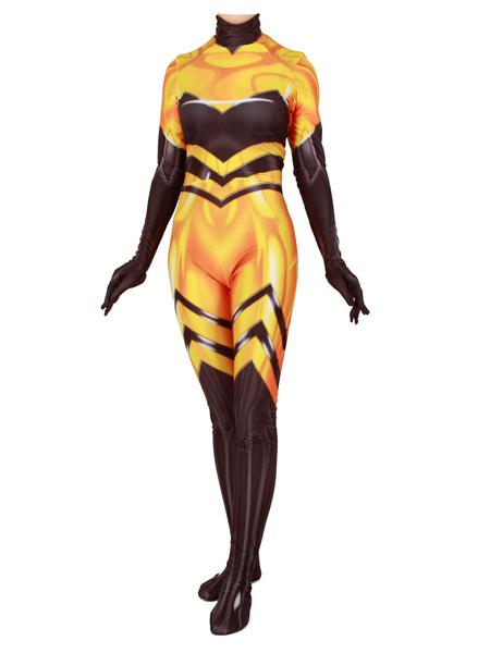 Milanoo Miraculous Ladybug Cosplay Queen Bee Lycra Spandex Jumpsuit Cosplay Costume