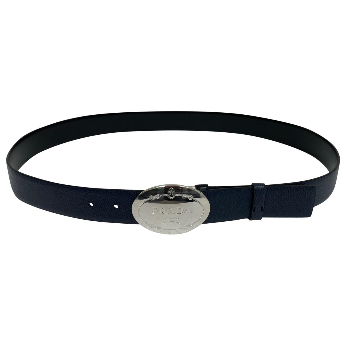 Prada \N Navy Leather belt for Men XL international