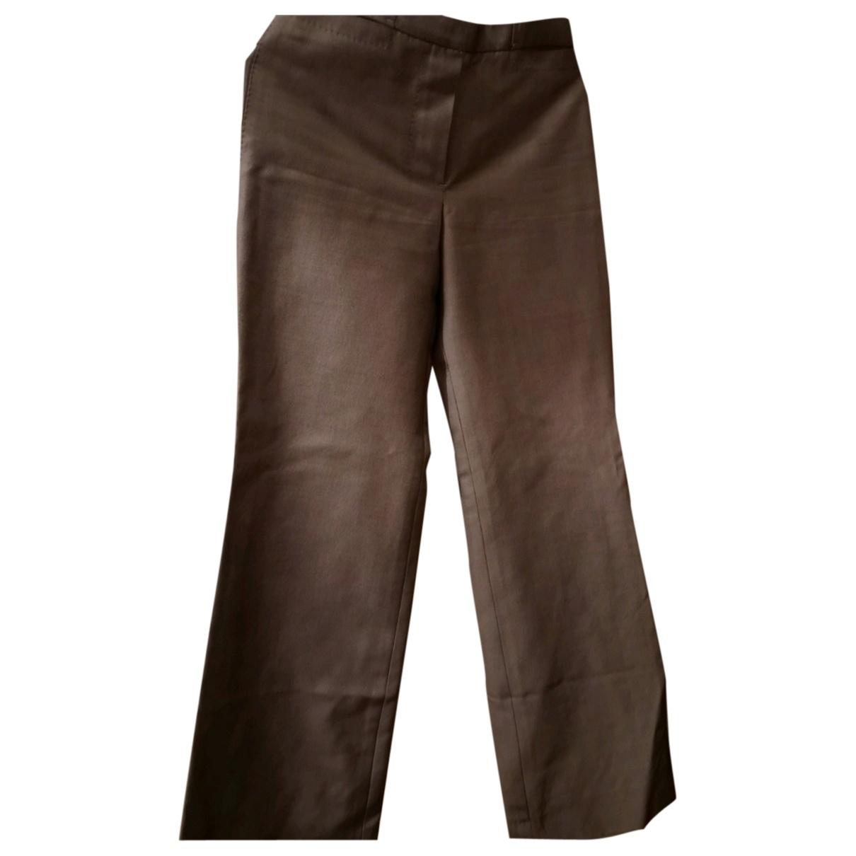 Louis Vuitton \N Grey Wool Trousers for Women 36 FR