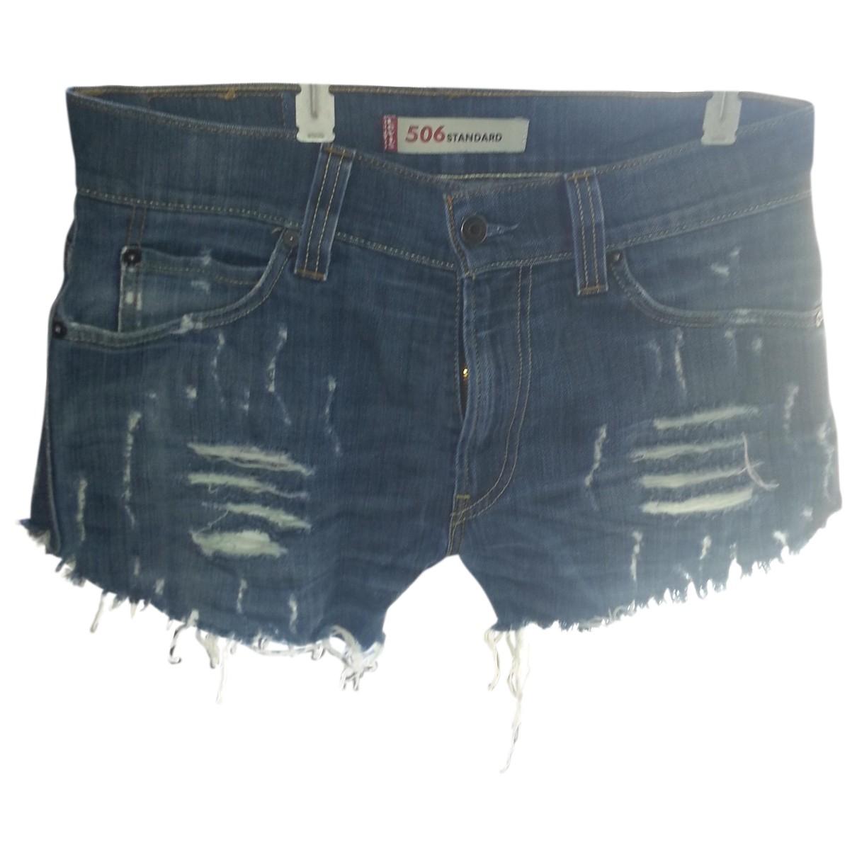 Levi's \N Blue Denim - Jeans Shorts for Women 40 FR