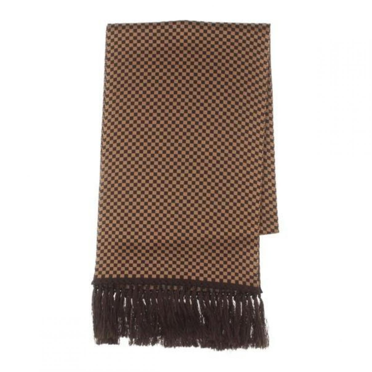 Louis Vuitton \N Brown Silk scarf for Women \N