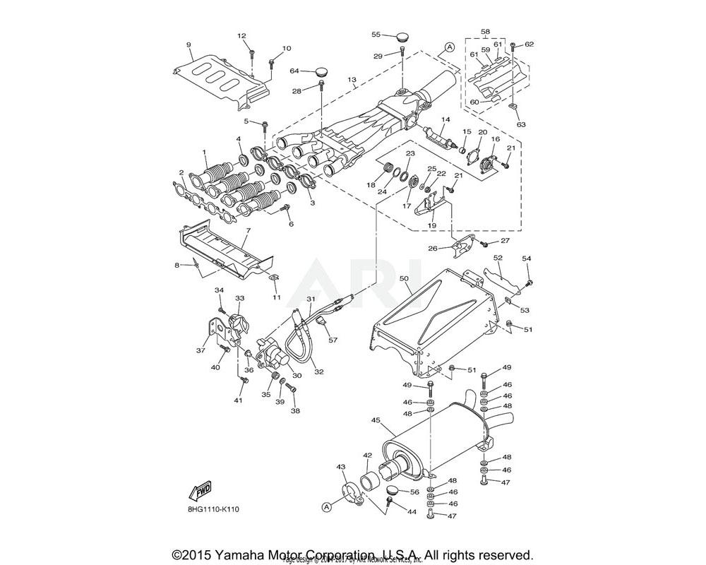 Yamaha OEM 8HG-14826-00-00 PROTECTOR, EXHAUST