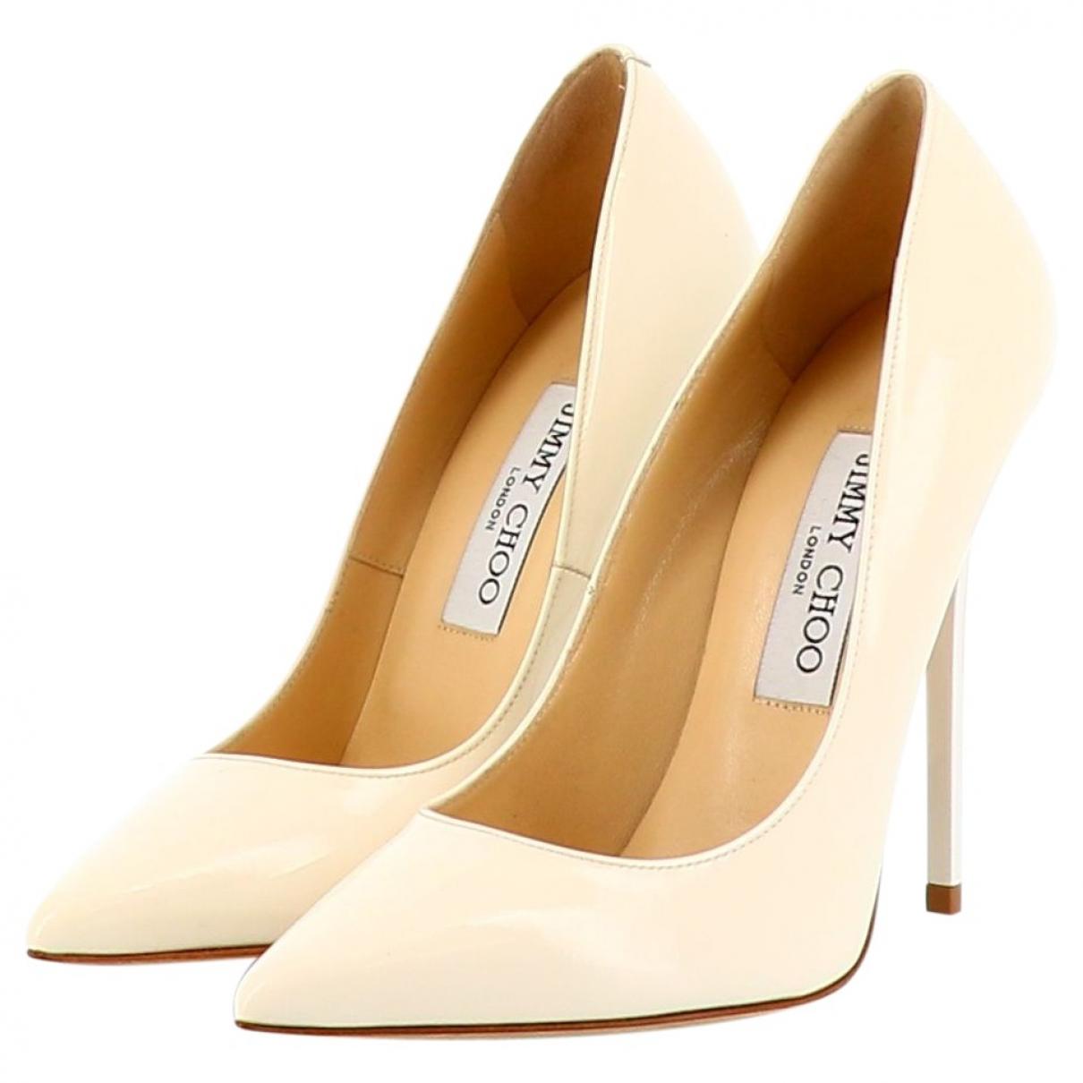 Jimmy Choo \N White Patent leather Heels for Women 36 EU
