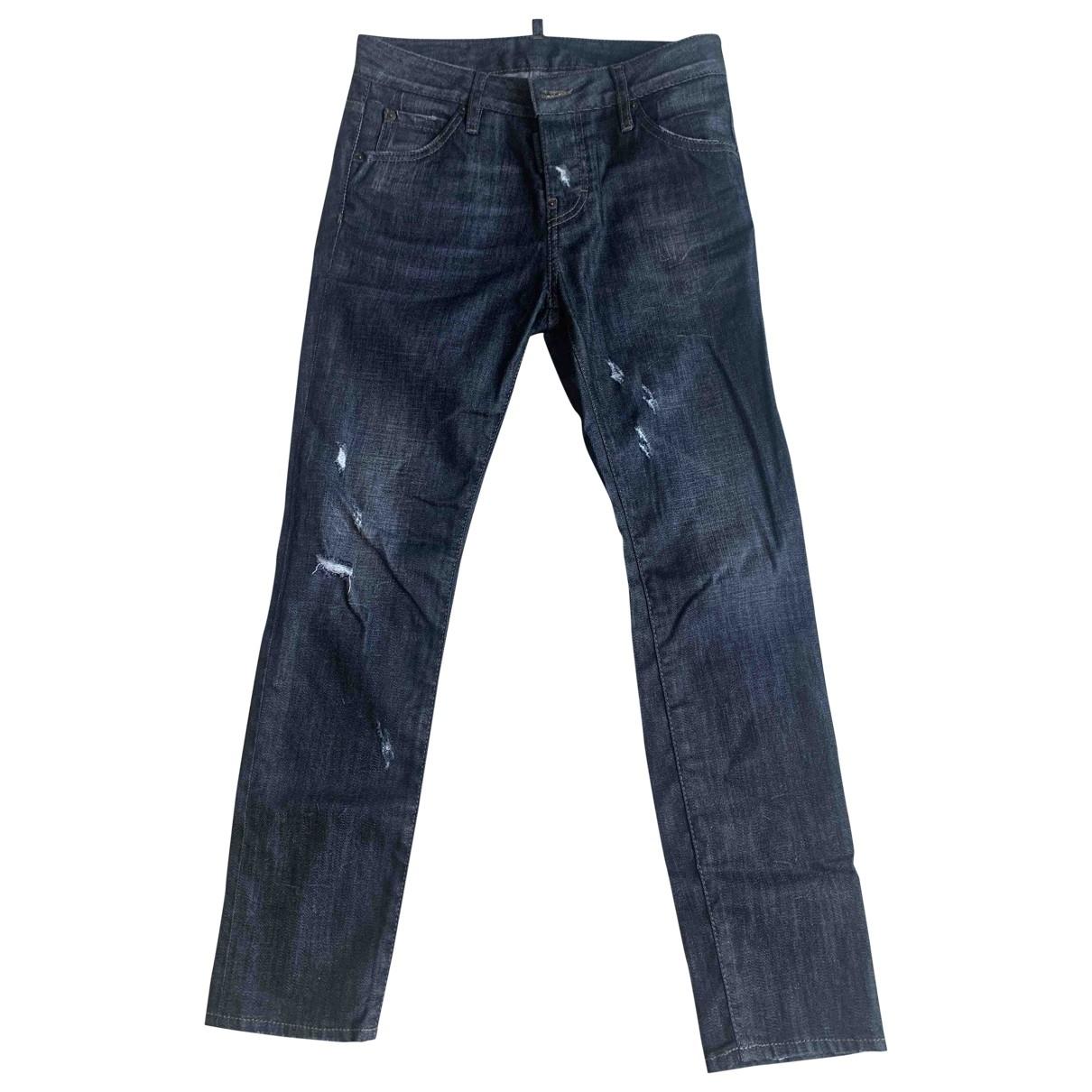 Dsquared2 \N Black Cotton - elasthane Jeans for Women 36 FR