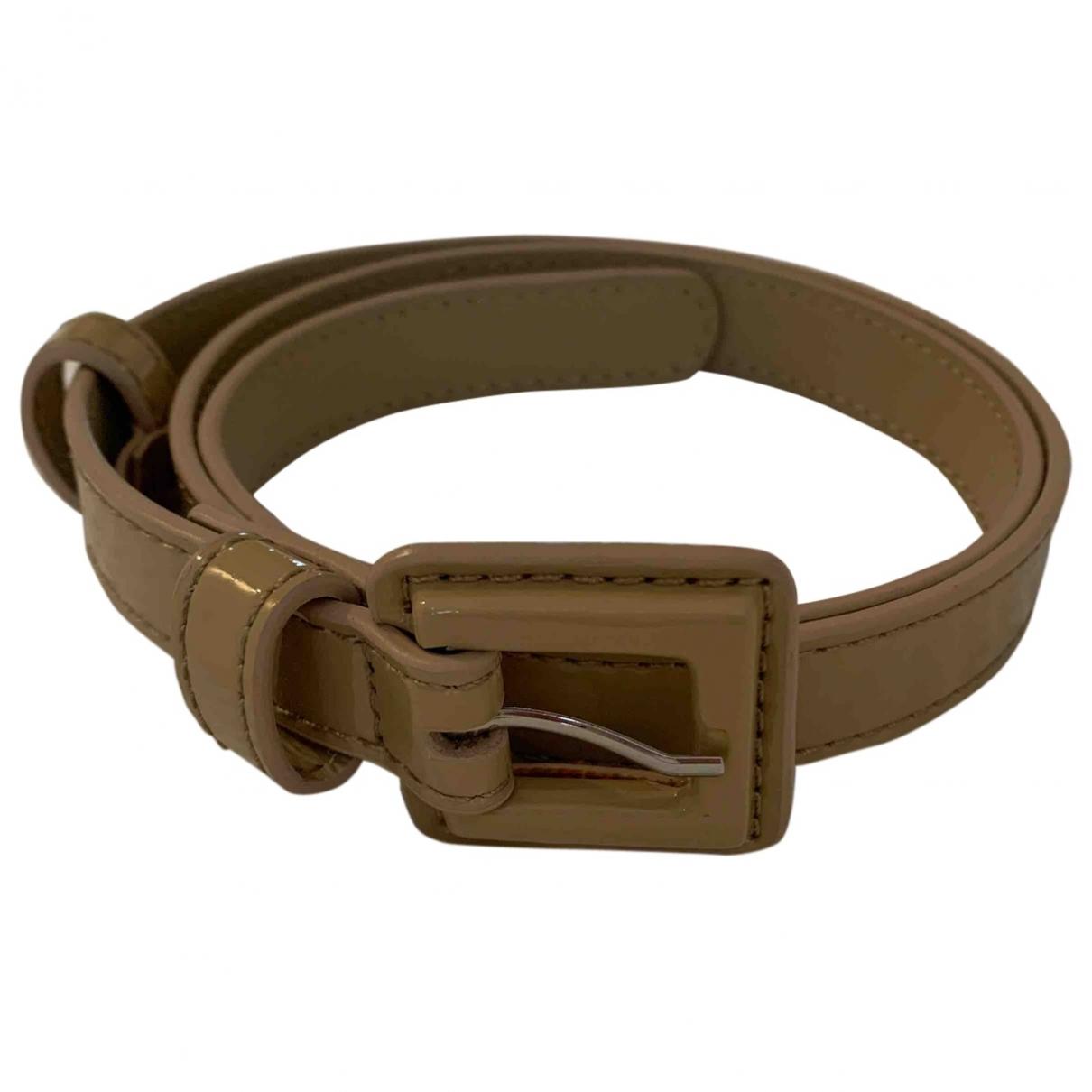 Lk Bennett \N Beige Patent leather belt for Women S International