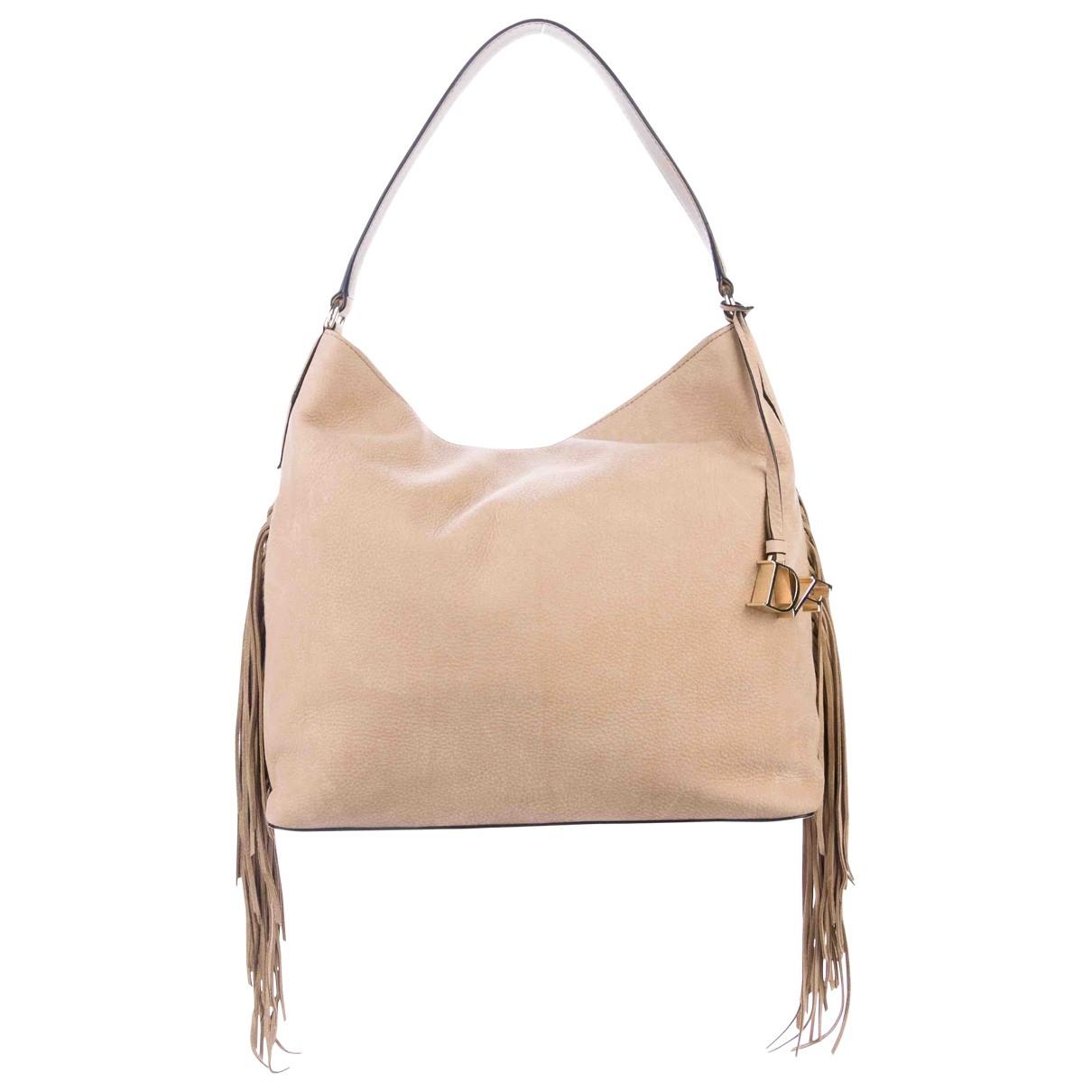 Diane Von Furstenberg \N Beige Leather handbag for Women \N