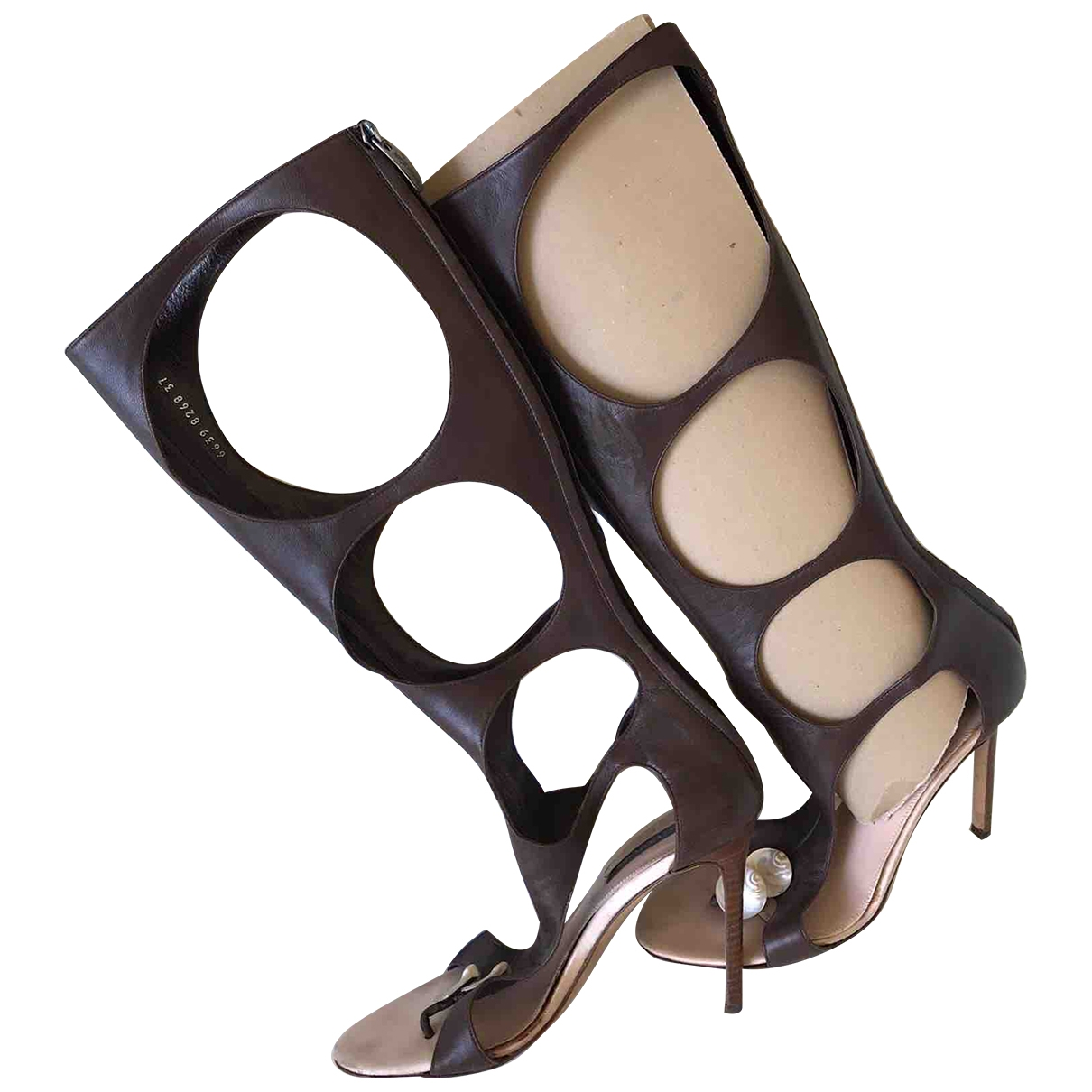 Sergio Rossi \N Brown Leather Sandals for Women 37 EU