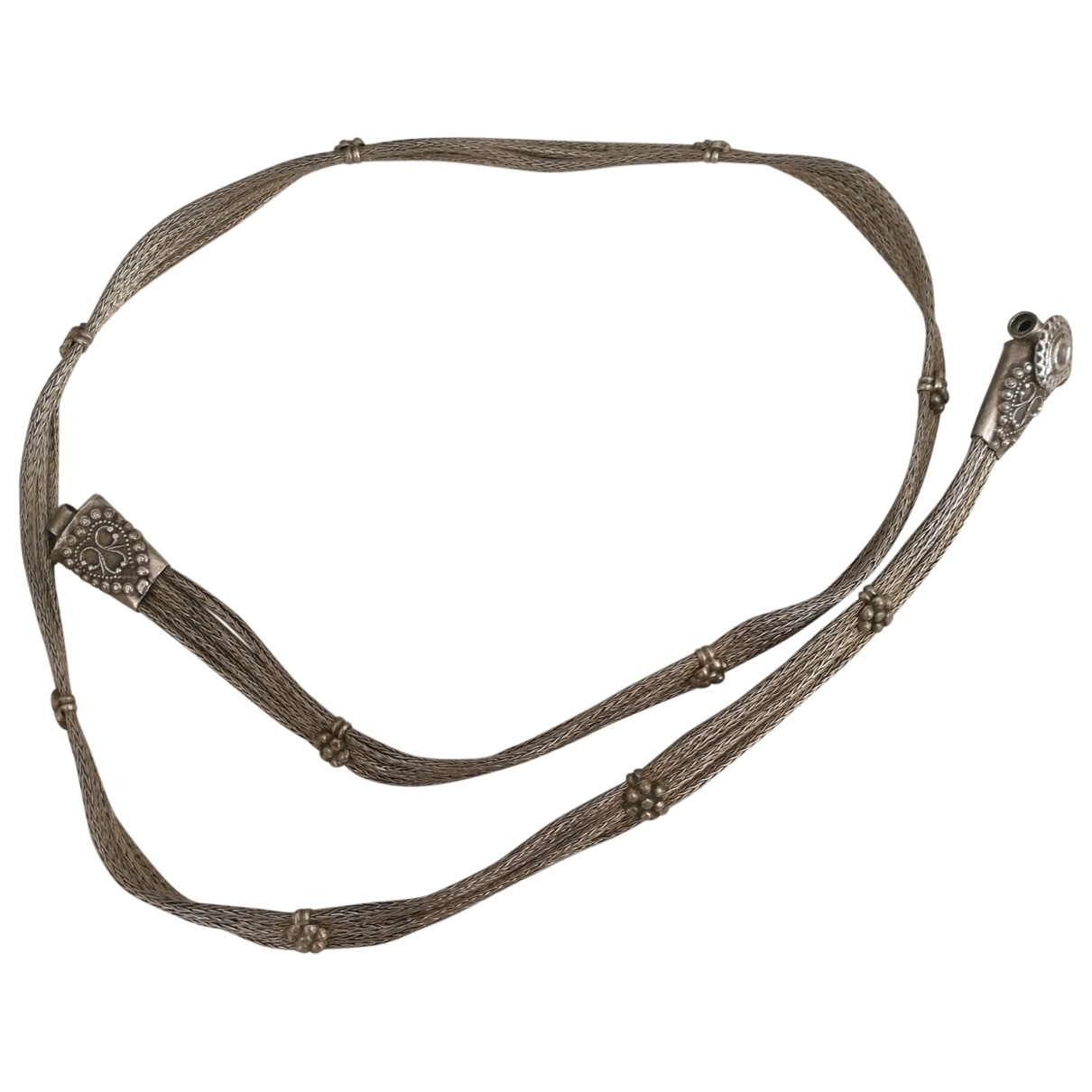 Non Signé / Unsigned \N Silver Metal belt for Women M International
