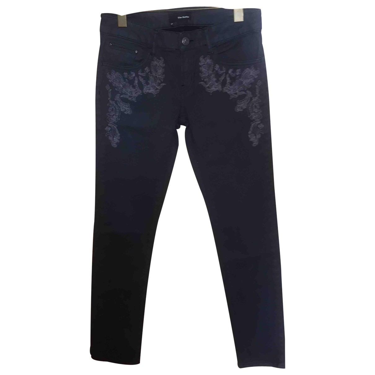 The Kooples \N Grey Cotton - elasthane Jeans for Women 37 FR
