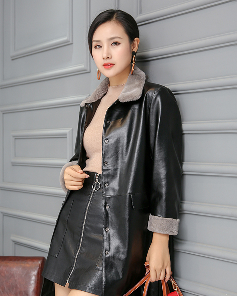 Button Lapel Plain Slim Model Casual Style Mid-Length Overcoat
