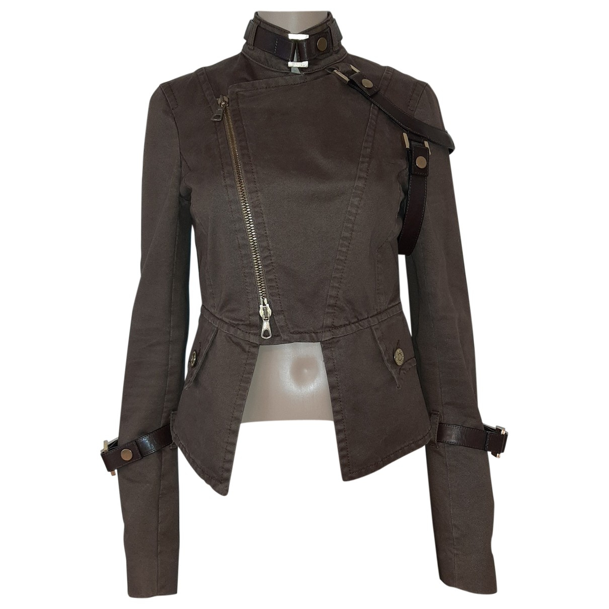Dsquared2 \N Brown Cotton jacket for Women 40 FR