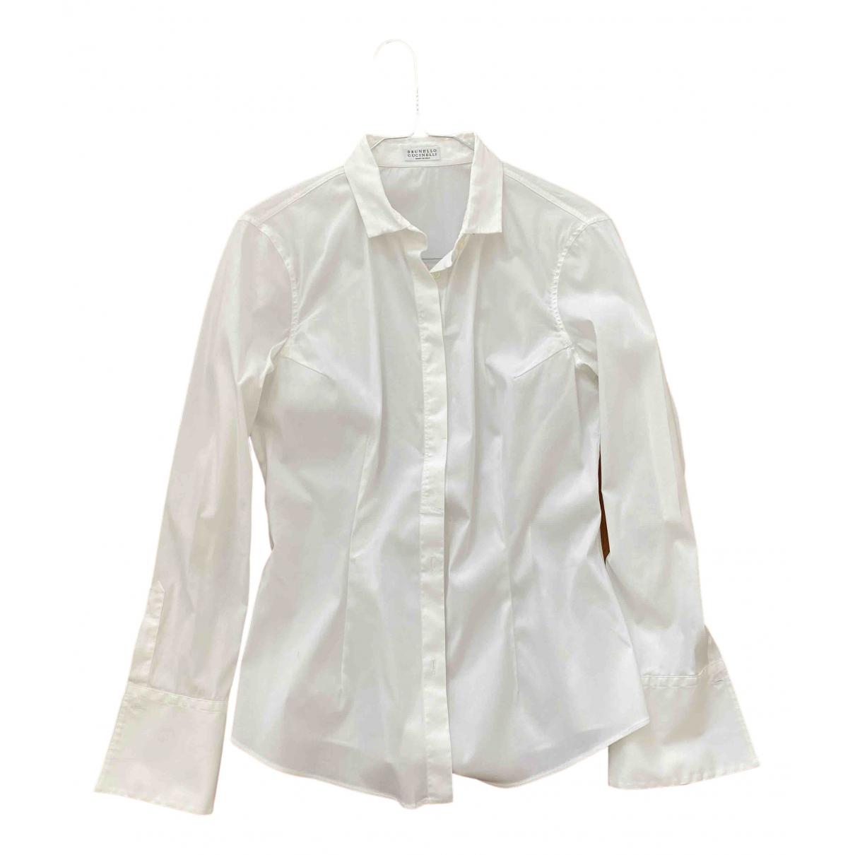 Brunello Cucinelli \N White Cotton  top for Women M International