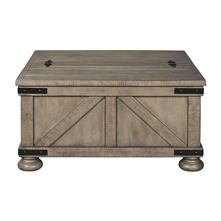 Signature Design by Ashley Aldwin Lift-Top Coffee Table, One Size , Gray