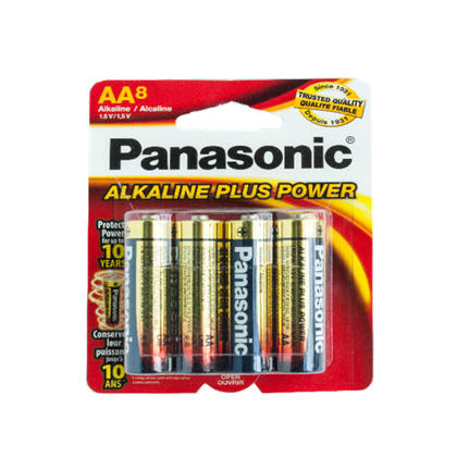 AA Alcaline batteries- Lot de 8 - Panasonic®