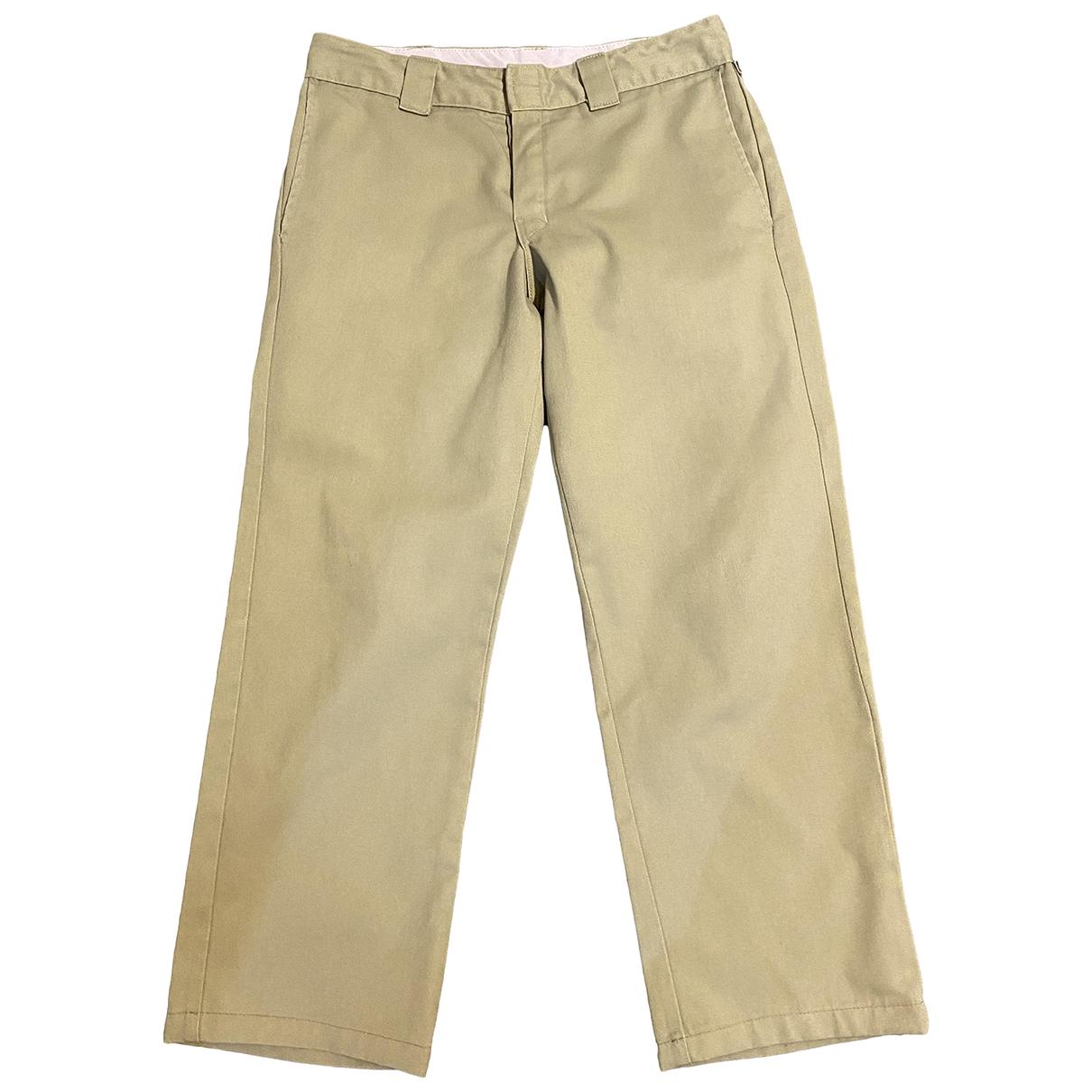 Dickies \N Beige Cotton Trousers for Men 32 UK - US
