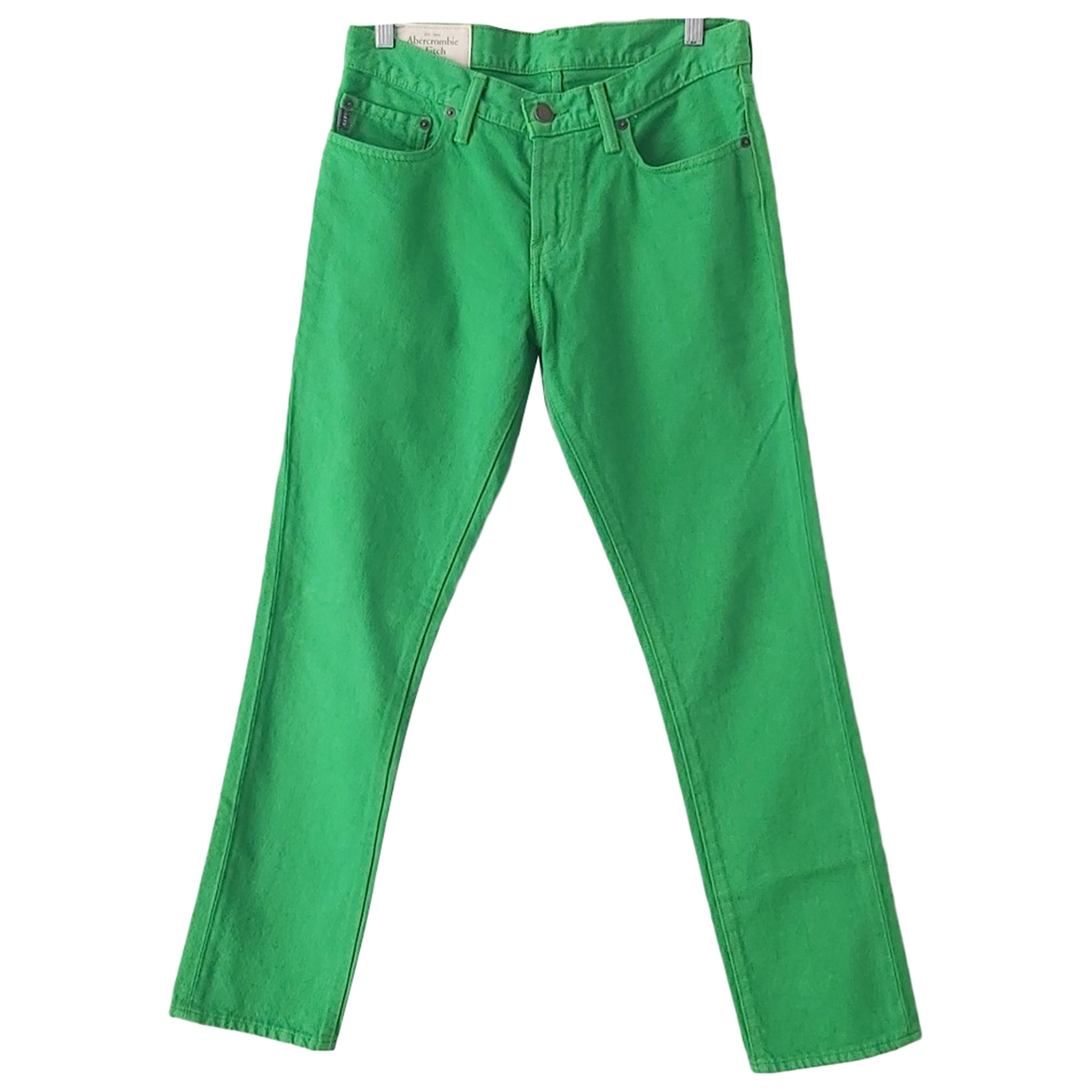 Abercrombie & Fitch \N Green Cotton Jeans for Women 30 US