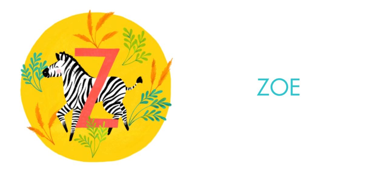 Non-Photo 11 oz. Pink Accent Mug, Gift -Animal Monogram Z