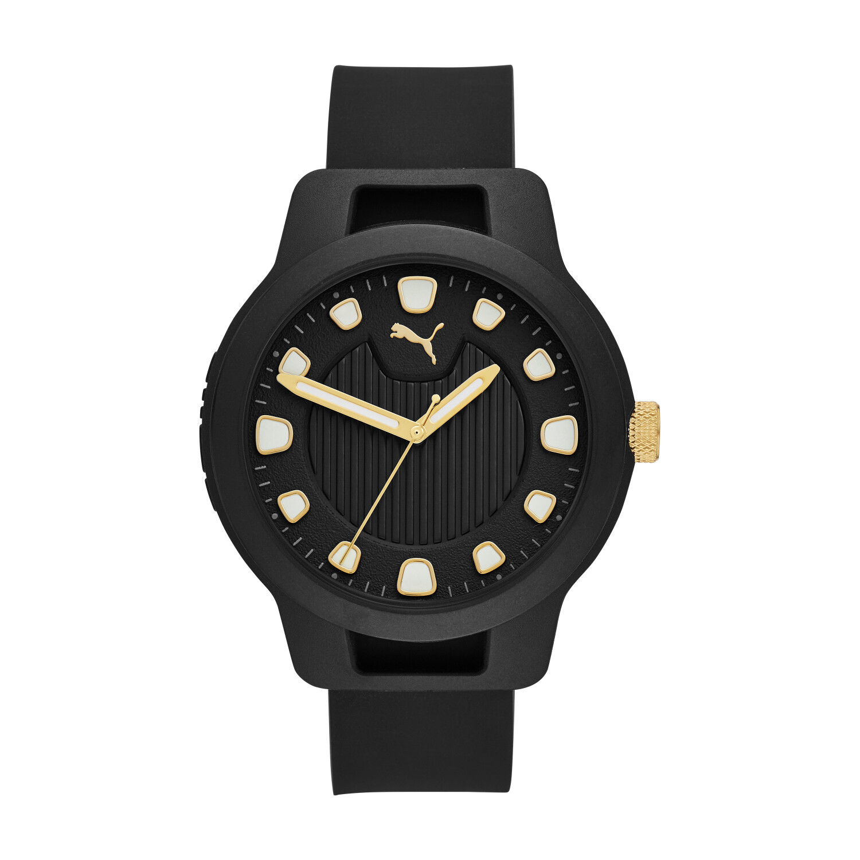 Puma Men's Reset V1 P5033 Black Silicone Quartz Fashion Watch